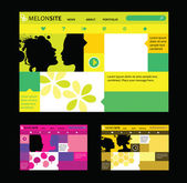 Responsive web design templates in various colors — Stock Vector