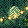 Illustrative greeting for Sukkot - jewish autumn holiday. — Stok Vektör
