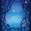 Night magic background — Stock Vector