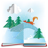 Winter Book. — Stock Vector