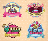 Retro labels set — Stock Vector