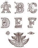 Ornamental alphabet — Stock Vector