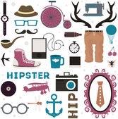 Hipster thematic elements. — Stock Vector