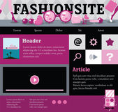 Web template for fashion site — Stock Vector