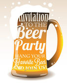 Typographic invitation to the Beer Party — Stock Vector