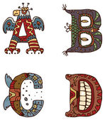 Illuminated letters alphabet — Vetorial Stock