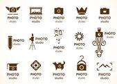 Signs for photo studio — Stockvektor