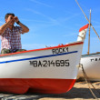 Stock Photo: A man in a boat