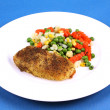 Hake and vegetables — Stock Photo #13713263
