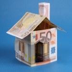 House made of euro money — Stock Photo