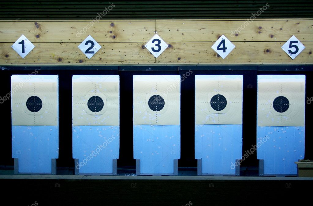 Target in a shooting gallery — Stock Photo #14118110