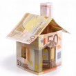 House of fifty euro bills — Stock Photo
