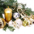 Royalty-Free Stock Photo: Christmas decoration with candle