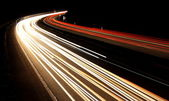 German highway by dark night — Stock Photo