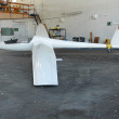White glider hangar — Stock Photo #17992321