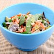Royalty-Free Stock Photo: Frozen Asian vegetables in blue bowl