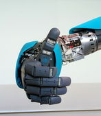 Robot hand gesture meaning okay — Stock Photo