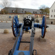 Stock Photo: Old, blue cannon in St. Petersberg Citadel Barracks