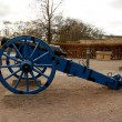Blue, old cannon in St. Petersberg Citadel Barracks — Foto de Stock