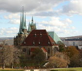 Old Church Cathedral in Erfurt, Germany — Stock Photo