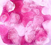 Frozen pink and white ice heart merge — Stock Photo