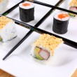 Royalty-Free Stock Photo: Tic tac toe play with sushi and chopsticks