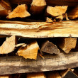 Stacked old firewood as background — Foto Stock #24874791