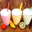 Stock Photo: Strawberry, mango and kiwi soft drink, smoothie