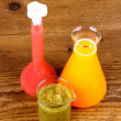 Stock Photo: Biochemistry concept - juices from test tube