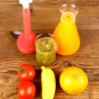 Stock Photo: Bio concept - juices from test tube