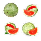 Collage of ripe, red watermelon isolated — Stock Photo