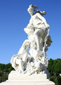 Gothic sculpture of two women with baby, park sanssouci — Stock Photo