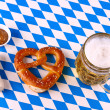 I Love Beer - Munich Oktoberfest concept, white blue plaid — Stock Photo #42296101