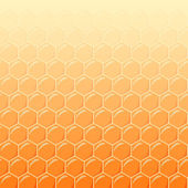 Honeycomb as vector background — ストックベクタ