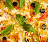 Pizza texture — Stockfoto