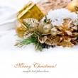 Royalty-Free Stock Photo: Christmas decoration isolated on white
