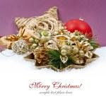 Christmas decoration isolated on white — Stock Photo