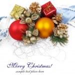 Christmas decoration isolated on white — Stock Photo #14104626