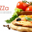 Pizza aislado en blanco — Foto de Stock   #14107120