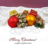 Christmas decoration isolated on white — 图库照片