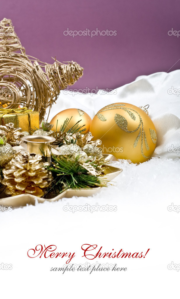 Christmas decoration isolated on white background — Stock Photo #14104433