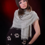 Beautiful Young Woman wearing cap. Autumn style — Stock Photo