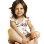Beautiful little girl 5 years — Stock Photo
