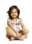 Beautiful little girl 5 years — Stock Photo