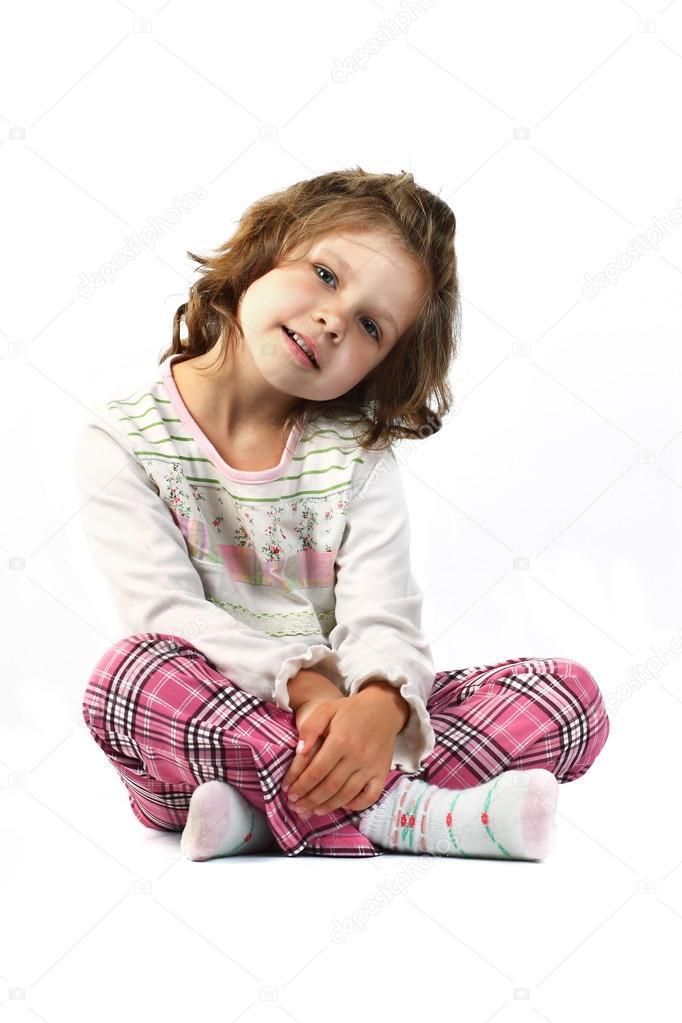 m dchen 5 jahre isoliert auf wei em hintergrund stockfoto 17598977. Black Bedroom Furniture Sets. Home Design Ideas