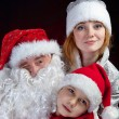 Santa Claus and Snow-maiden — Stock Photo