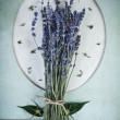 Lavender flowers on vintage background — Stock Photo