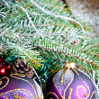 Christmas Decoration Over Wooden Background. — Lizenzfreies Foto