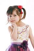 Girl in a beautiful ballroom gown — Stock Photo