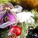 arte tarjeta de felicitación de Navidad — Foto de Stock